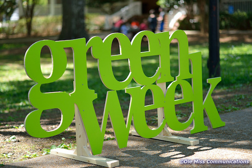 Green Week sign